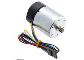 Motor with 64 CPR Encoder for 37D mm Metal Gearmotors (No Gearbox, Helical Pinion).