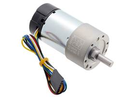 30:1 Metal Gearmotor 37Dx68L mm with 64 CPR Encoder (Helical Pinion).