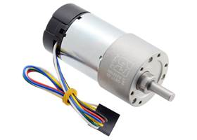 50:1 Metal Gearmotor 37Dx70L mm with 64 CPR Encoder (Helical Pinion).