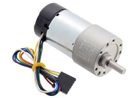 70:1 Metal Gearmotor 37Dx70L mm with 64 CPR Encoder (Helical Pinion).