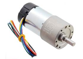 131:1 Metal Gearmotor 37Dx73L mm with 64 CPR Encoder (Helical Pinion).