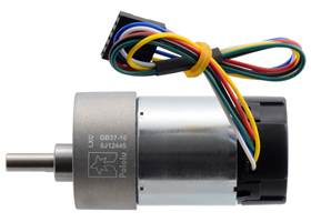 10:1 Metal Gearmotor 37Dx65L mm with 64 CPR Encoder (Helical Pinion). (1)