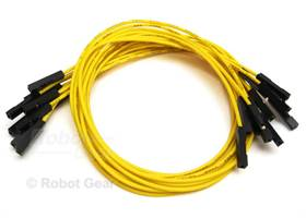 10 pack of yellow jumper wires F-F