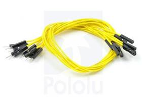 Premium Jumper Wire 30cm M-F Yellow
