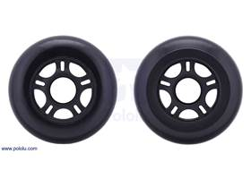 Both sides of the scooter/skate wheel 80x24mm – black