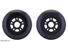 Both sides of the scooter/skate wheel 100x24mm – black