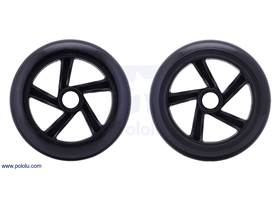 Both sides of the scooter/skate wheel 144x29mm – black