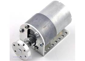 Pololu 37D gearmotor mounting bracket with motor and hub