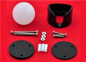 "What's included with the 1"" plastic ball caster"