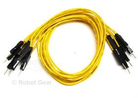 10 pack of yellow jumper wires M-M