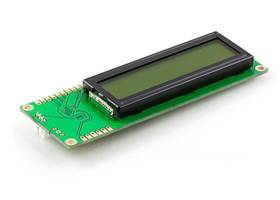 16x2 Serial Enabled LCD (Black on Green)