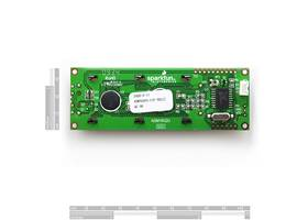 16x2 Serial Enabled LCD - Black on Green (Back)