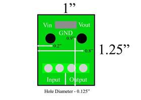 Voltage Regulator Breakout Board Dimensions