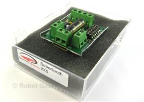 Sabertooth dual 5A motor driver - in box