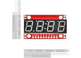 SparkFun 7-Segment Serial Display - Red (5)
