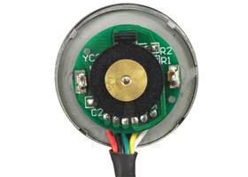 37D mm metal gear motor with 64 CPR encoder - end