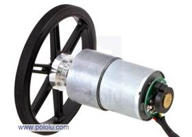 37D mm metal gear motor with 64 CPR encoder and wheel