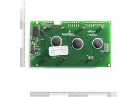 Serial Enabled 20x4 LCD - Black on Green 5V-Back