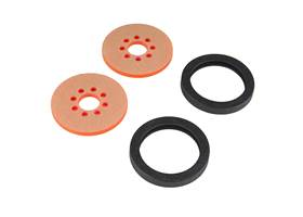 """Precision Disc Wheel - 2"""" (Clear Pink, 2 Pack)"""
