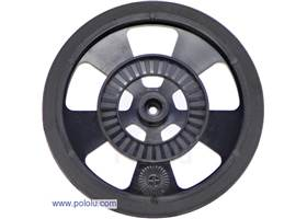 Black Solarbotics SW wheel with silicone tire